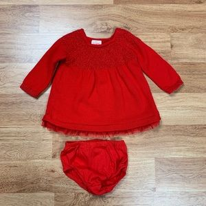 Cat & Jack Baby Girl Red Sweater Dress